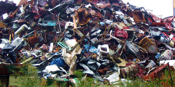 Free skip hire for scrap metal recycling within a 30 miles of Chesterfield, Derbyshire