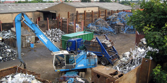 Environmentally friendly scrap metal recycling centre in Chesterfield, Derbyshire